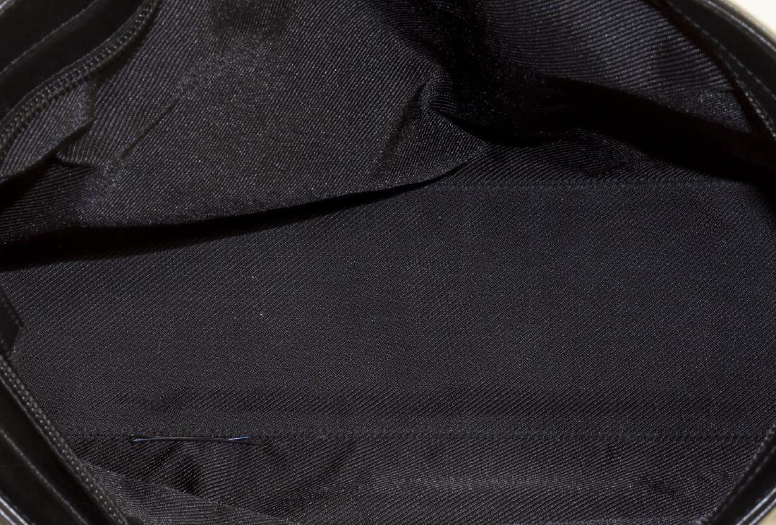 GUCCI MONOGRAM CANVAS & BLACK LEATHER TOTE BAG - 4