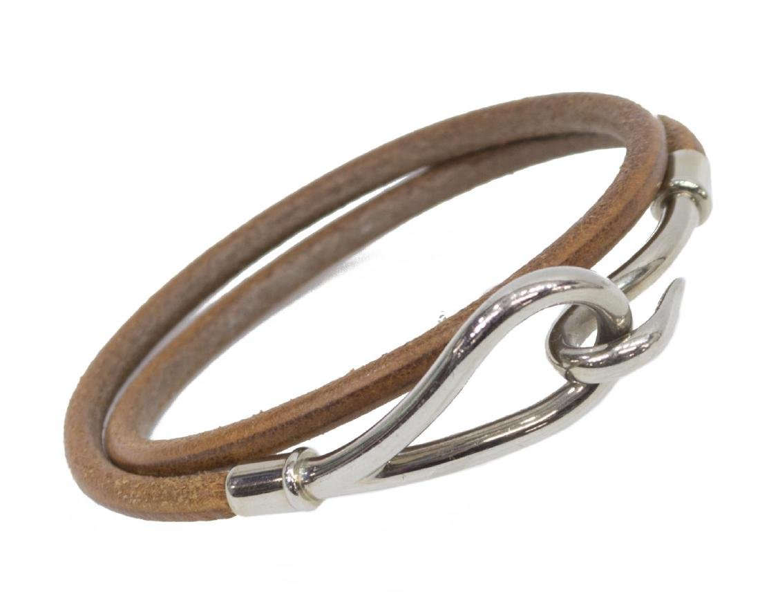HERMES JUMBO DOUBLE TOUR LEATHER CORD BRACELET