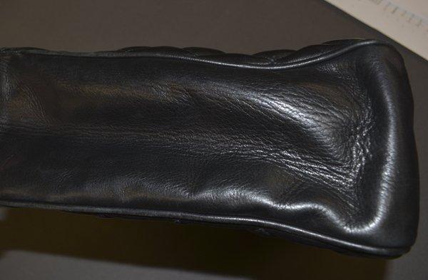VINTAGE CHANEL BLACK QUILTED LEATHER SHOULDER BAG - 8