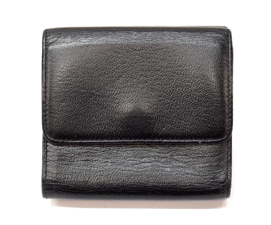CHANEL BLACK GRAIN LEATHER BIFOLD SQUARE WALLET - 2
