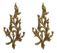 PAIR LOUIS XV STYLE GILTWOOD CANDLE SCONCES