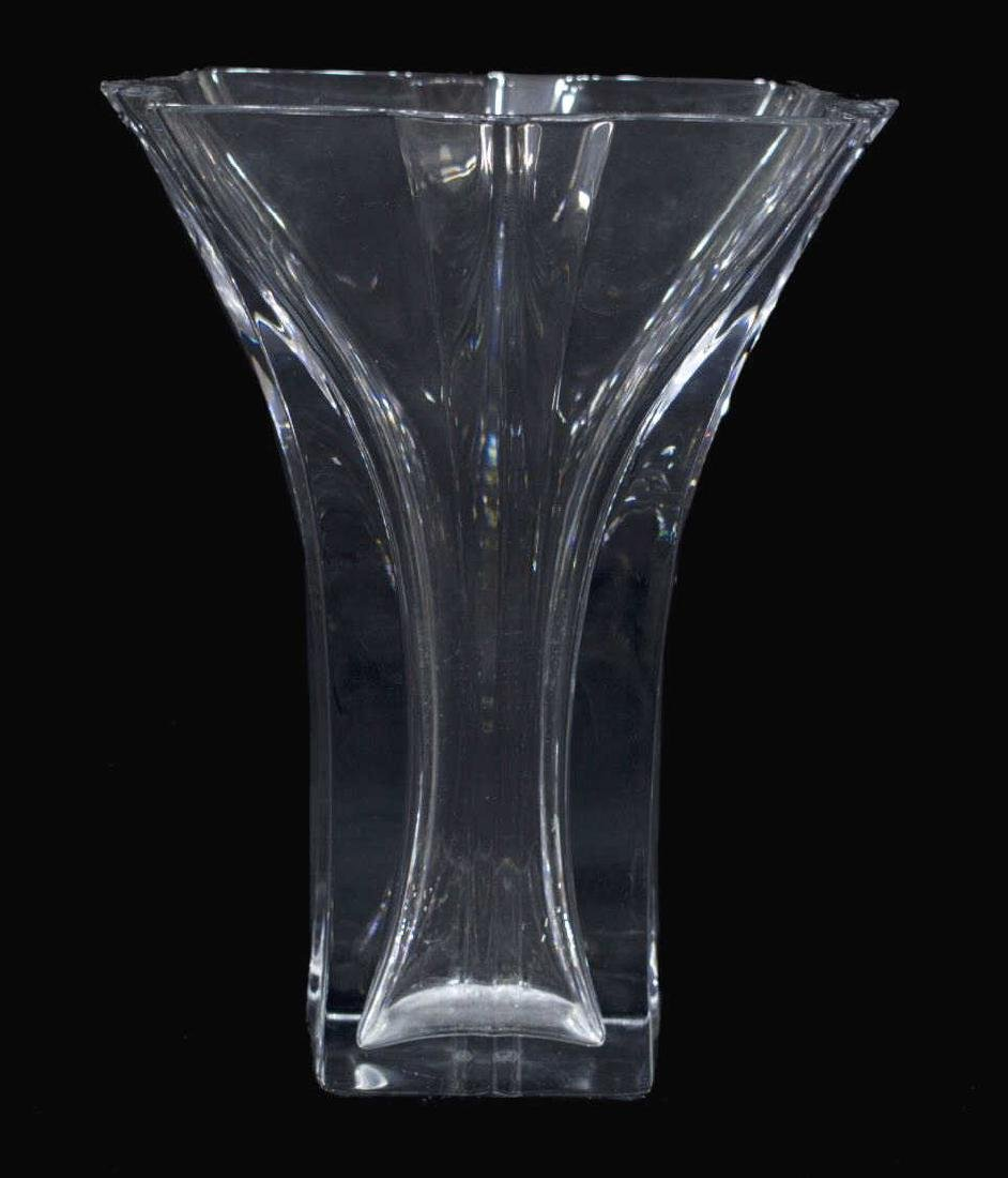 (2) BACCARAT CLEAR ART GLASS GROUP, VASE & RABBIT - 2