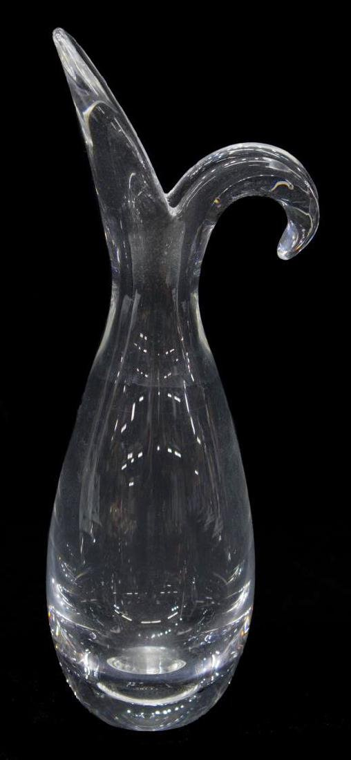 (2) STEUBEN CLEAR ART GLASS VASE & PAPER WEIGHT - 2
