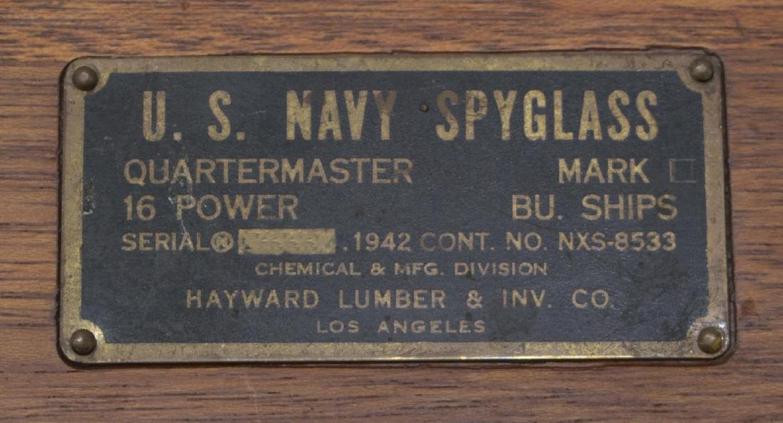 WWII U.S. NAVY SPYGLASS, 16 POWER, ORIGINAL BOX - 2