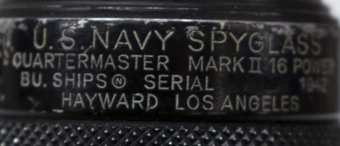 WWII U.S. NAVY SPYGLASS, 16 POWER, ORIGINAL BOX - 8