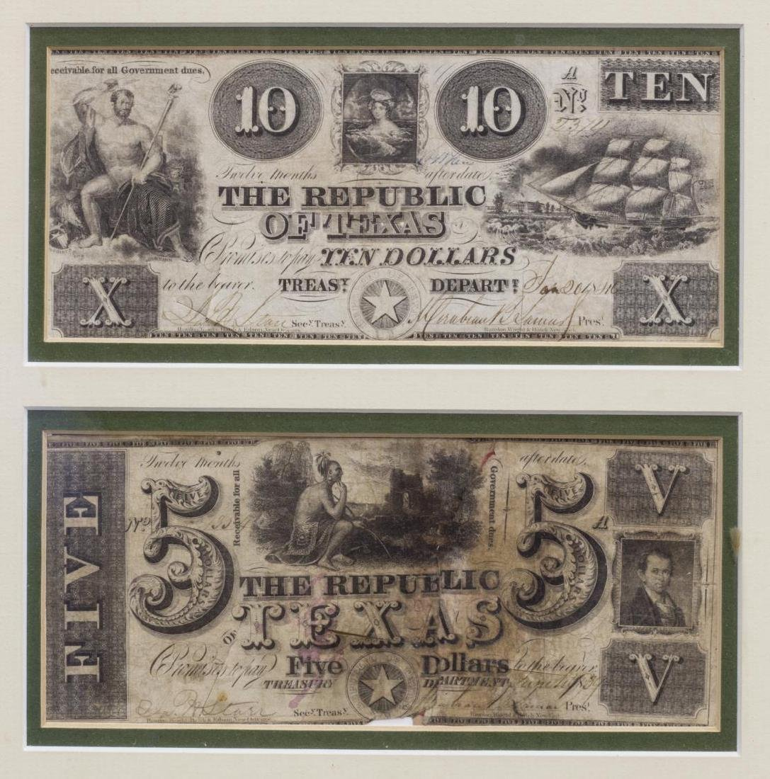 (6) REPUBLIC OF TEXAS CURRENCY, PRES. LAMAR SIGNED - 2
