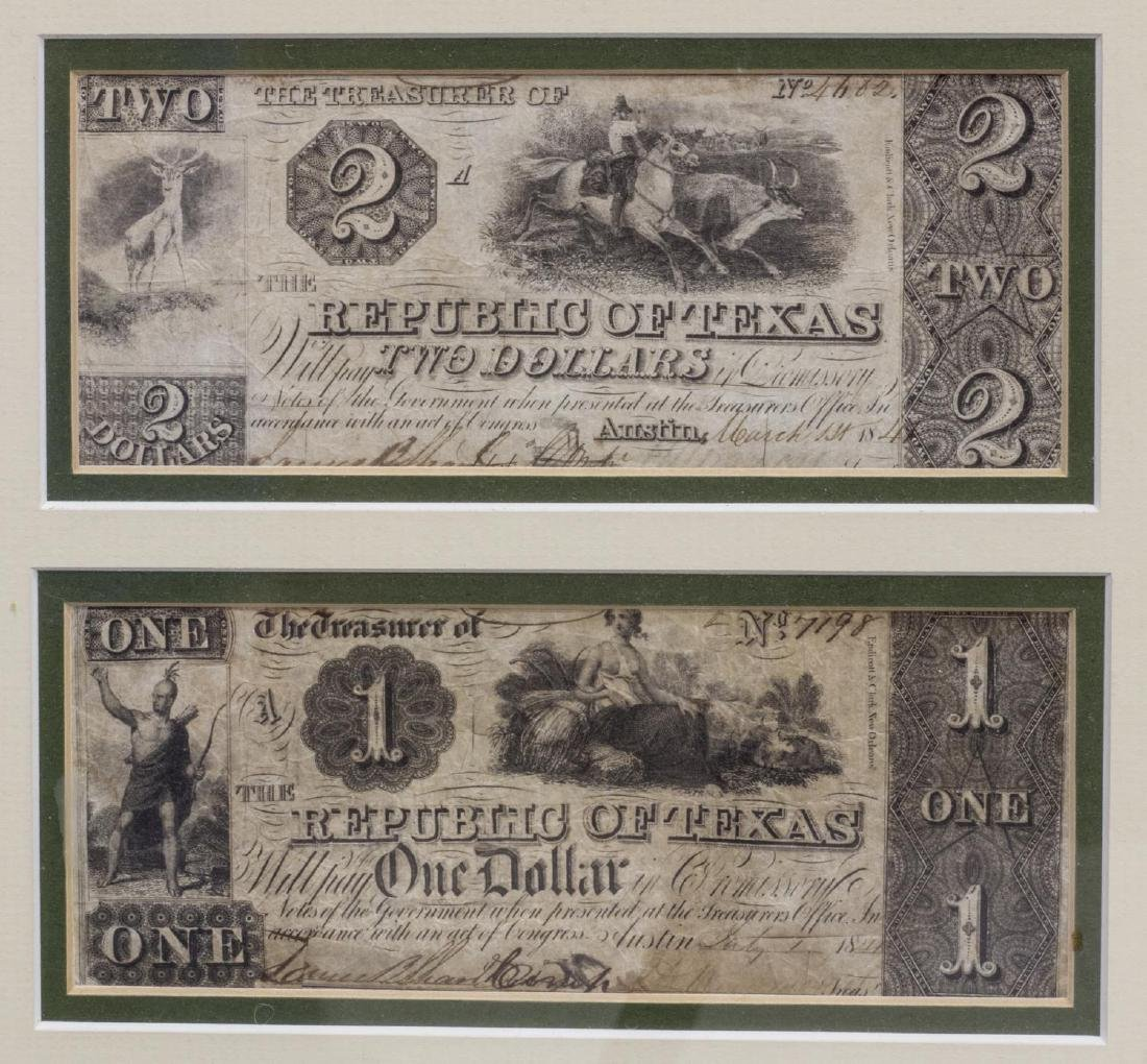 (6) REPUBLIC OF TEXAS CURRENCY, PRES. LAMAR SIGNED - 3