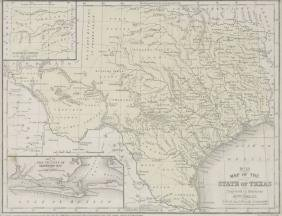 MITCHELL'S MAP OF THE STATE OF TEXAS, 1852