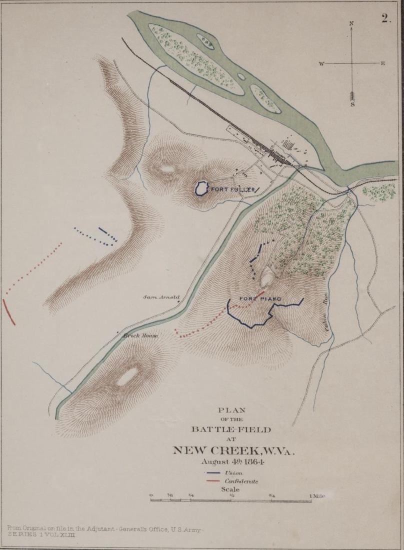 1857 MAP OF TEXAS, PUB. 1895, ATLAS OF CIVIL WAR - 3