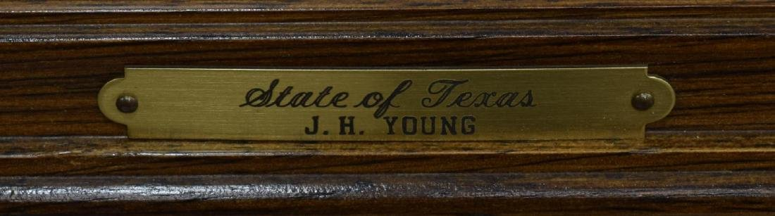 (2) MAP OF TEXAS, JH YOUNG & FRAMED MARINE PRINT - 4