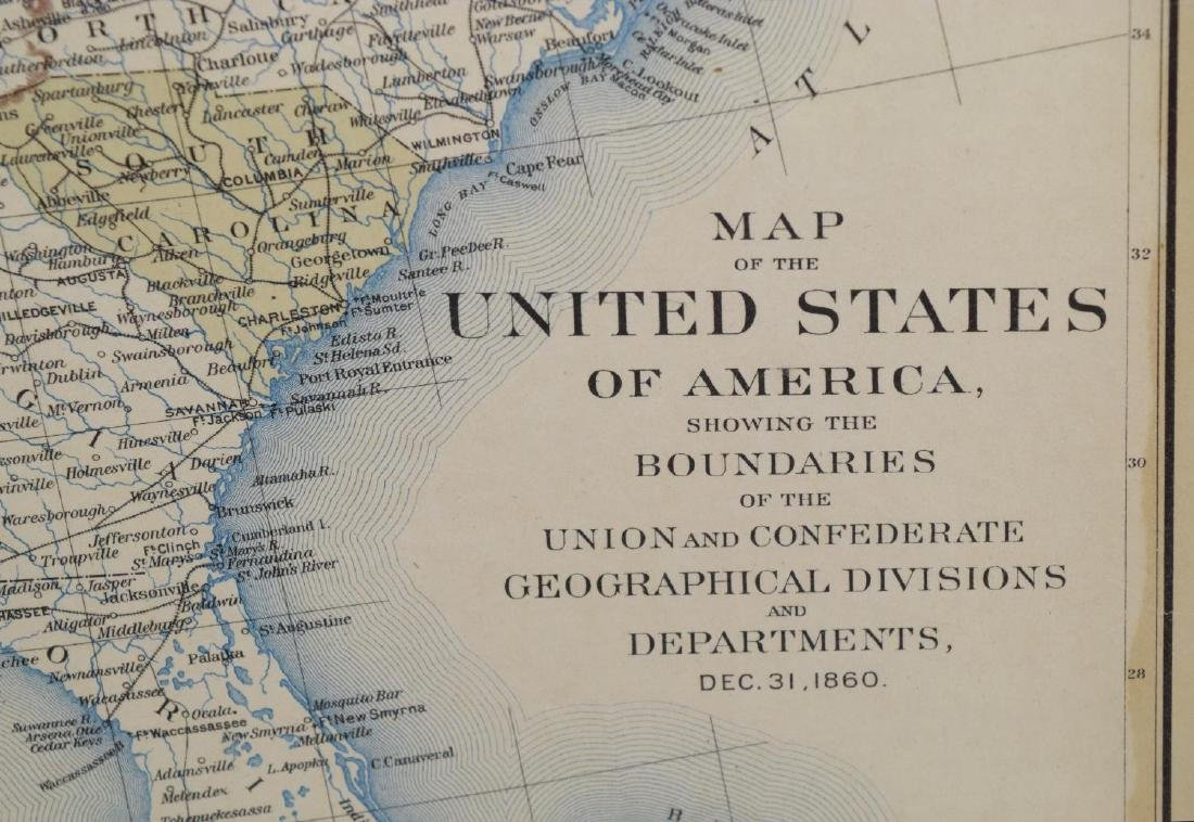 (2) FRAMED MAPS, INDIAN TERRITORY & UNITED STATES - 3