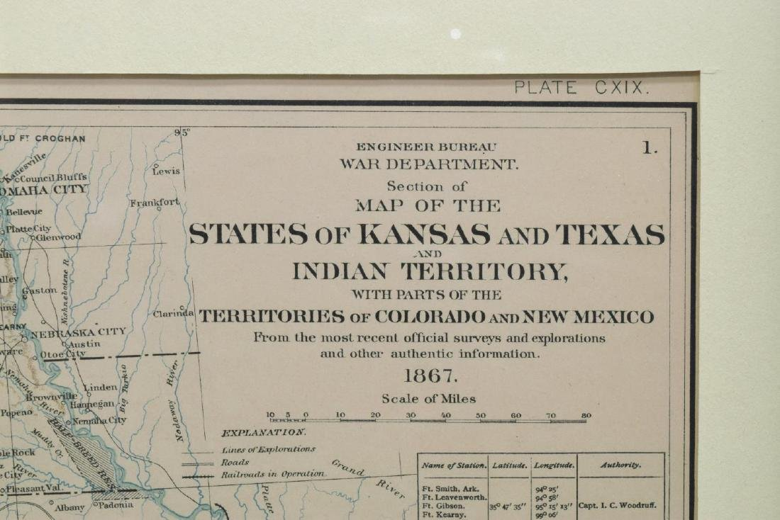 (2) FRAMED MAPS, INDIAN TERRITORY & UNITED STATES - 5