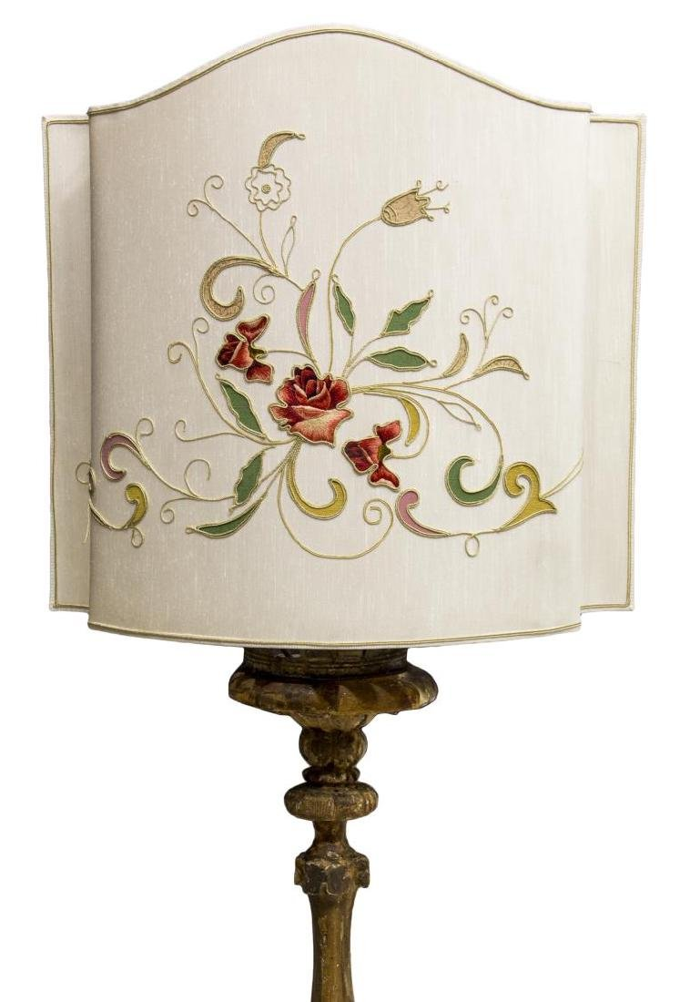FRENCH GILTWOOD STANDING ALTAR LIGHT FLOOR LAMP