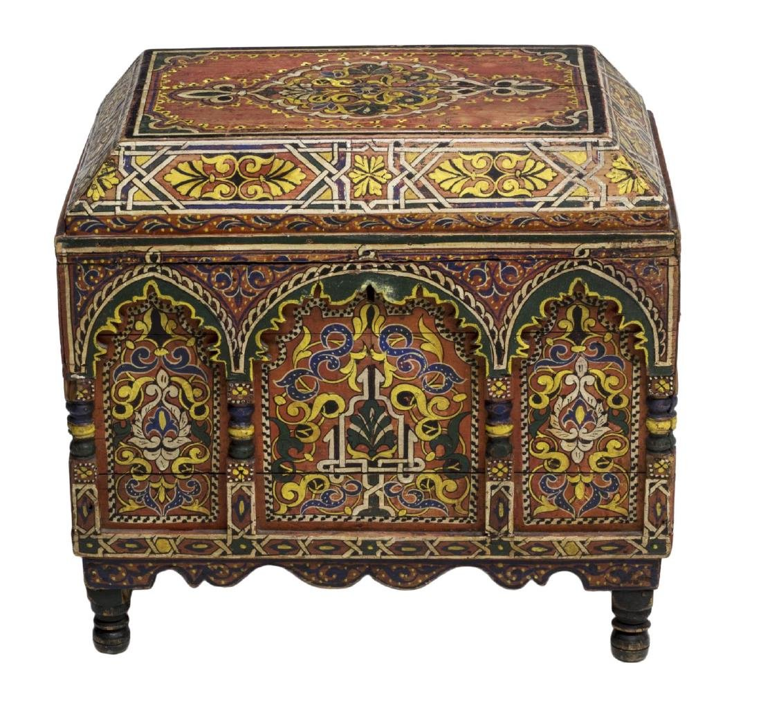 ITALIAN ARABESQUE POLYCHROME BOX, 19TH C. - 2