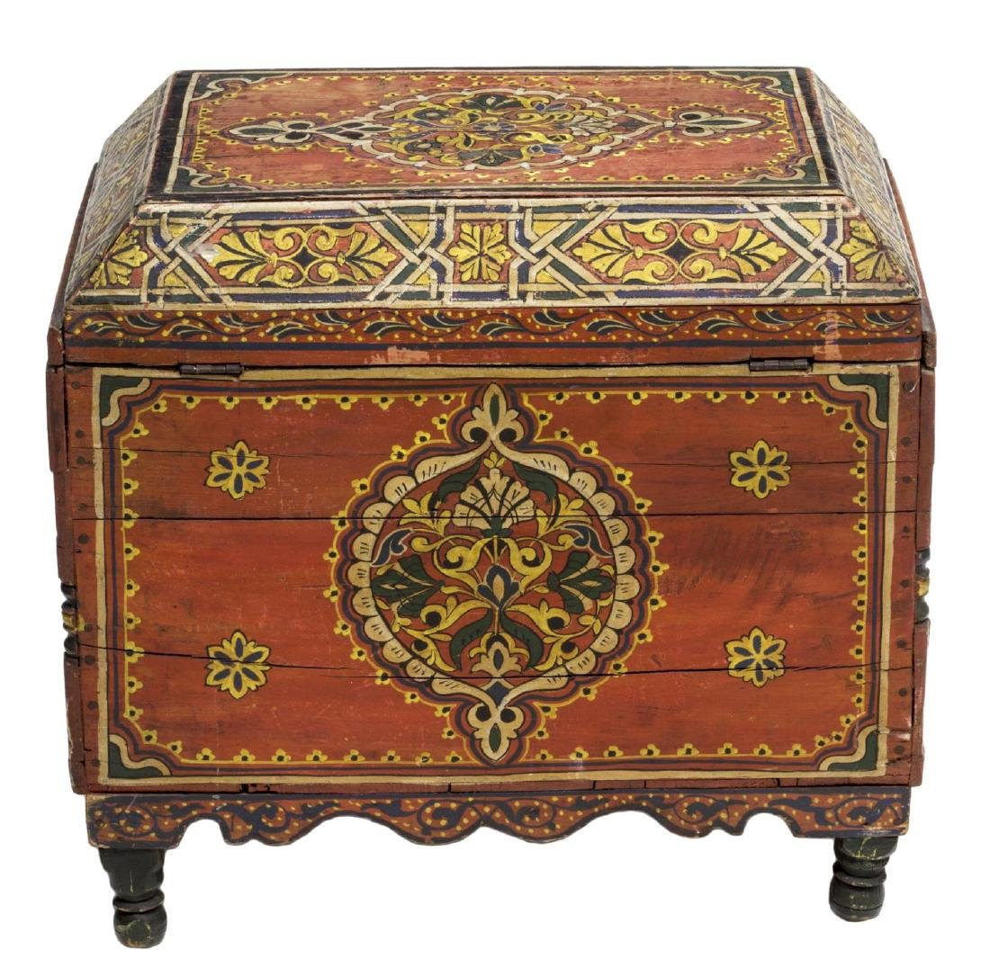 ITALIAN ARABESQUE POLYCHROME BOX, 19TH C. - 6