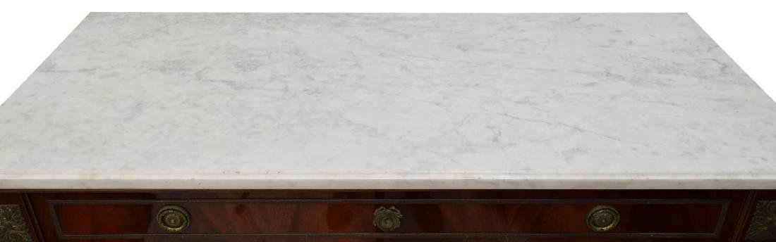 FRENCH LOUIS XVI STYLE MARBLE TOP COMMODE 20TH C - 3