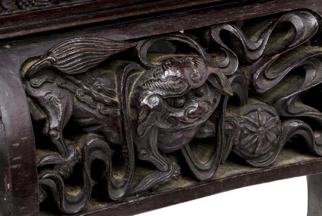 CHINESE RELIEF CARVED & FITTED SILVER CHEST - 8