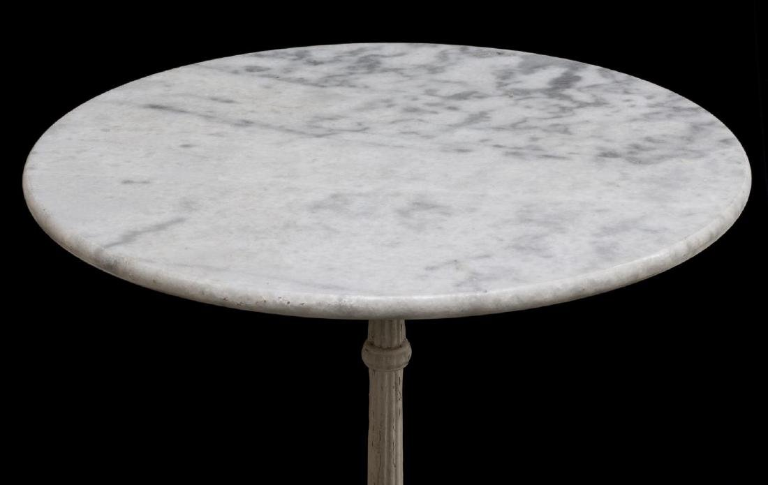 FRENCH MARBLE TOP IRON BASE BISTRO TABLE - 2