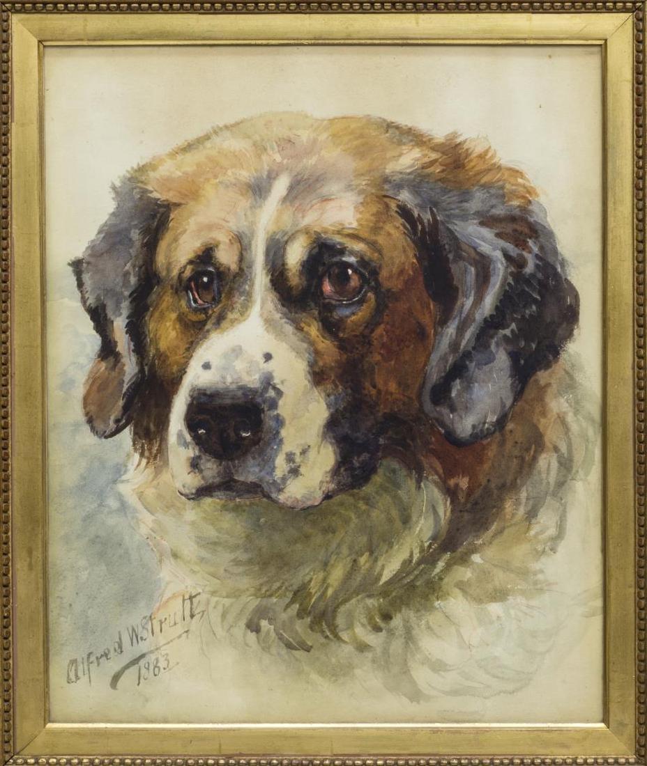 ALFRED W STRUTT (1856-1924) ST. BERNARD PORTRAIT - 2