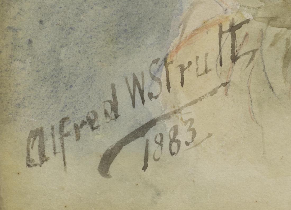 ALFRED W STRUTT (1856-1924) ST. BERNARD PORTRAIT - 4