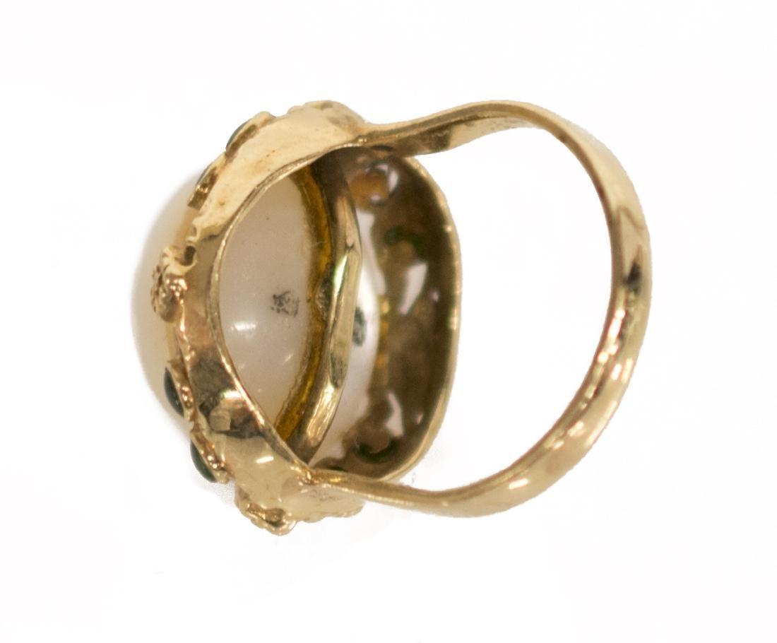 LADIES ESTATE MABE PEARL COCKTAIL RING - 3