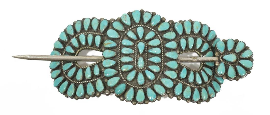 (6) LADIES ESTATE STERLING & TURQUOISE JEWELRY GRP - 2