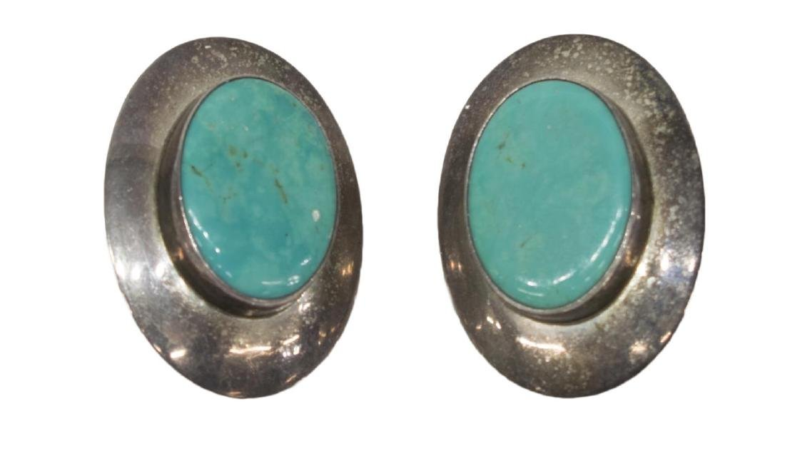 (6) LADIES ESTATE STERLING & TURQUOISE JEWELRY GRP - 5