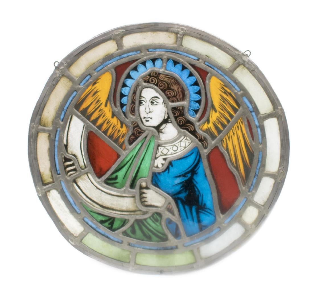 (4) ART NOUVEAU & RELIGIOUS STAINED GLASS PANELS - 2
