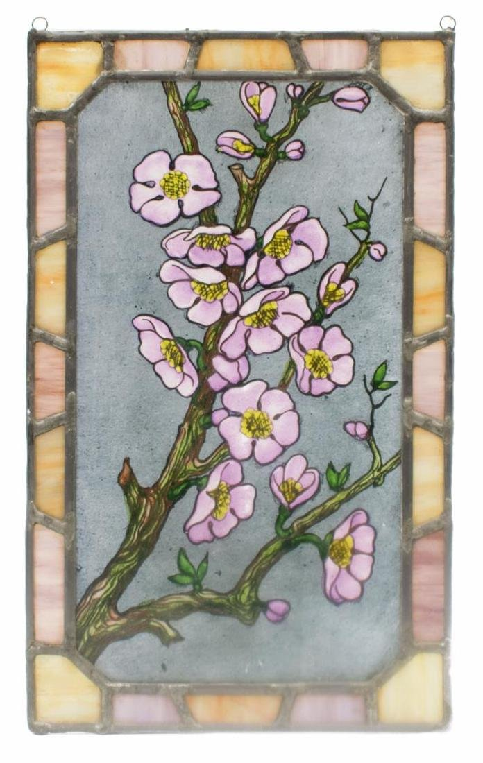 (4) ART NOUVEAU & RELIGIOUS STAINED GLASS PANELS - 5