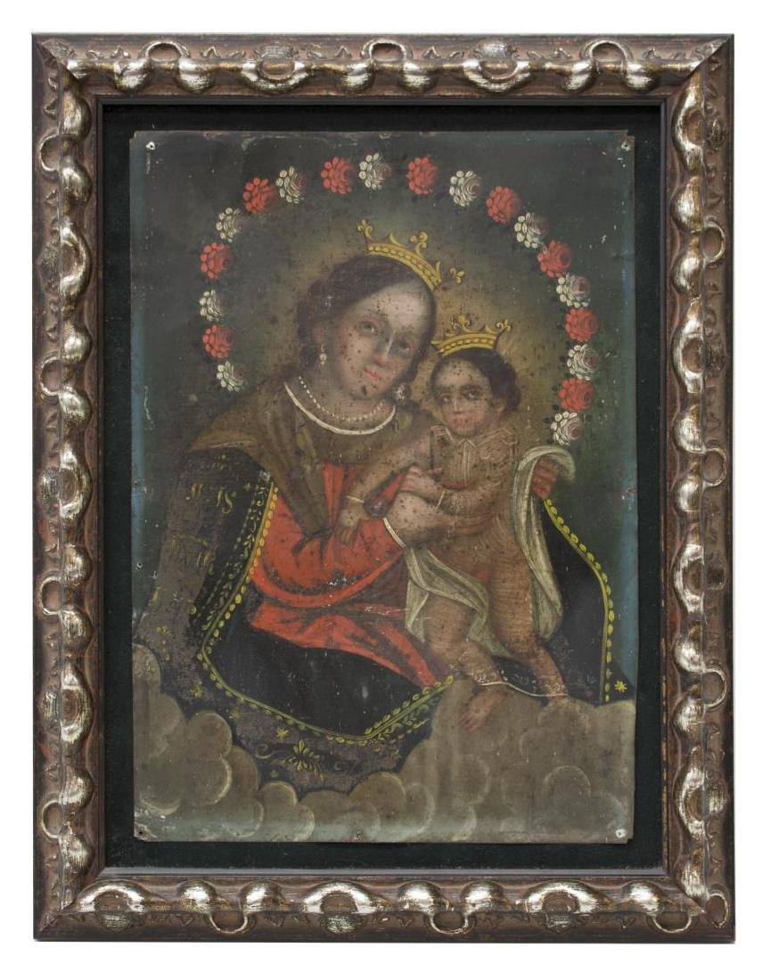 "MEXICO TIN RETABLO, ""OUR LADY, REFUGE OF SINNERS"" - 2"