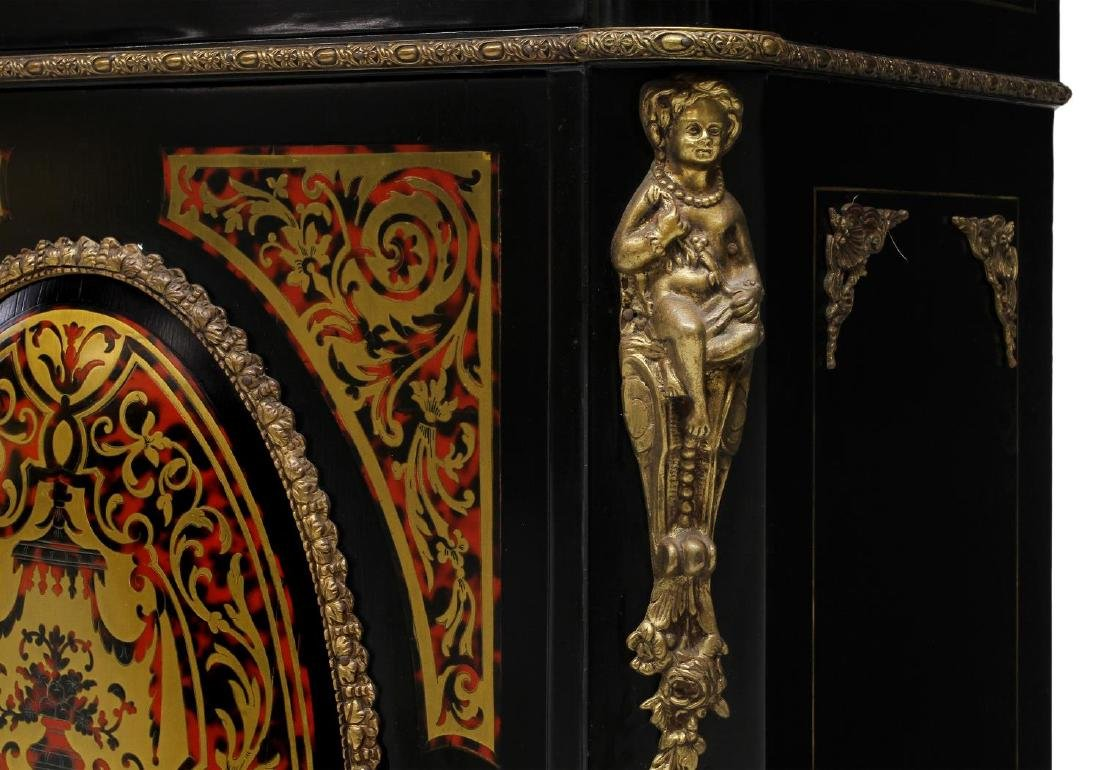 FRENCH MARBLE TOP BOULLE STYLE CONSOLE - 2