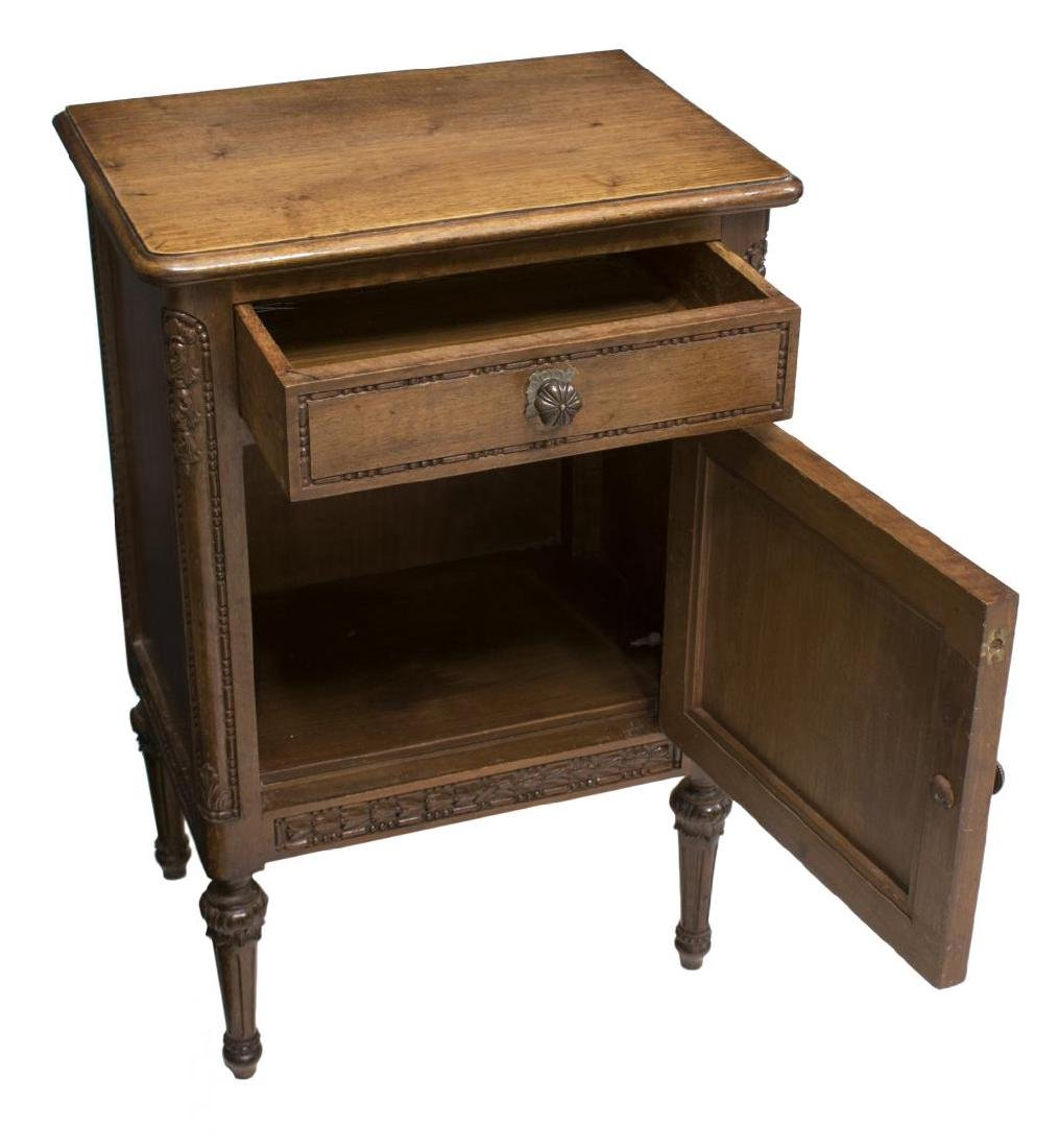 (2) ITALIAN LOUIS XVI CARVED BEDSIDE CABINETS - 2