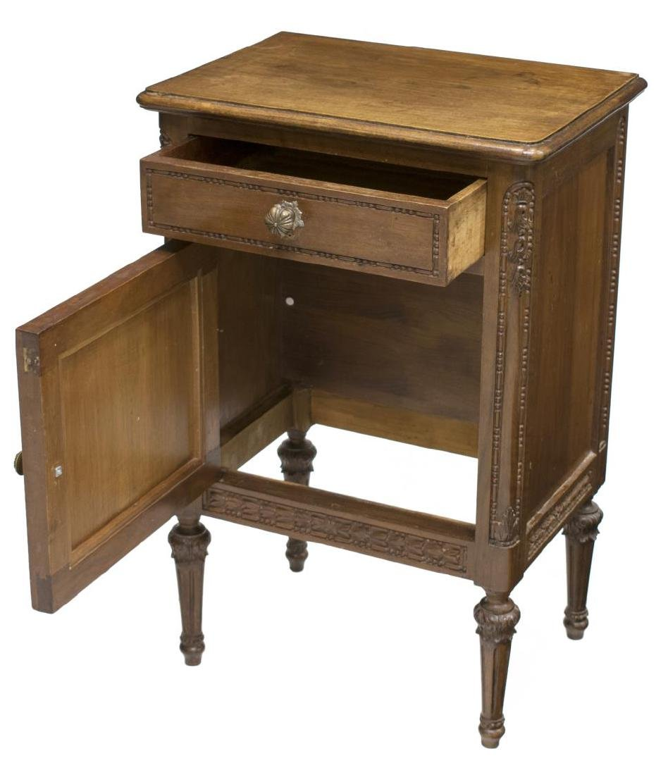 (2) ITALIAN LOUIS XVI CARVED BEDSIDE CABINETS - 3