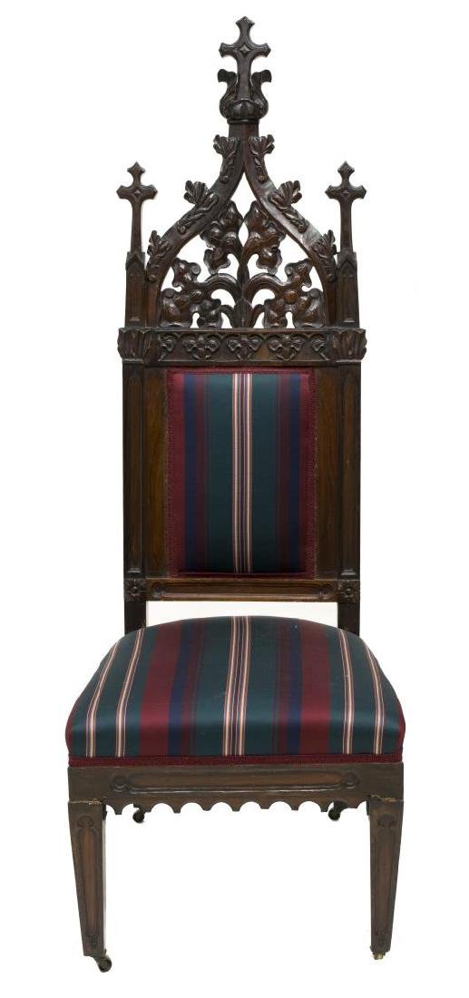 (2) GOTHIC STYLE CARVED CHAIRS - 2