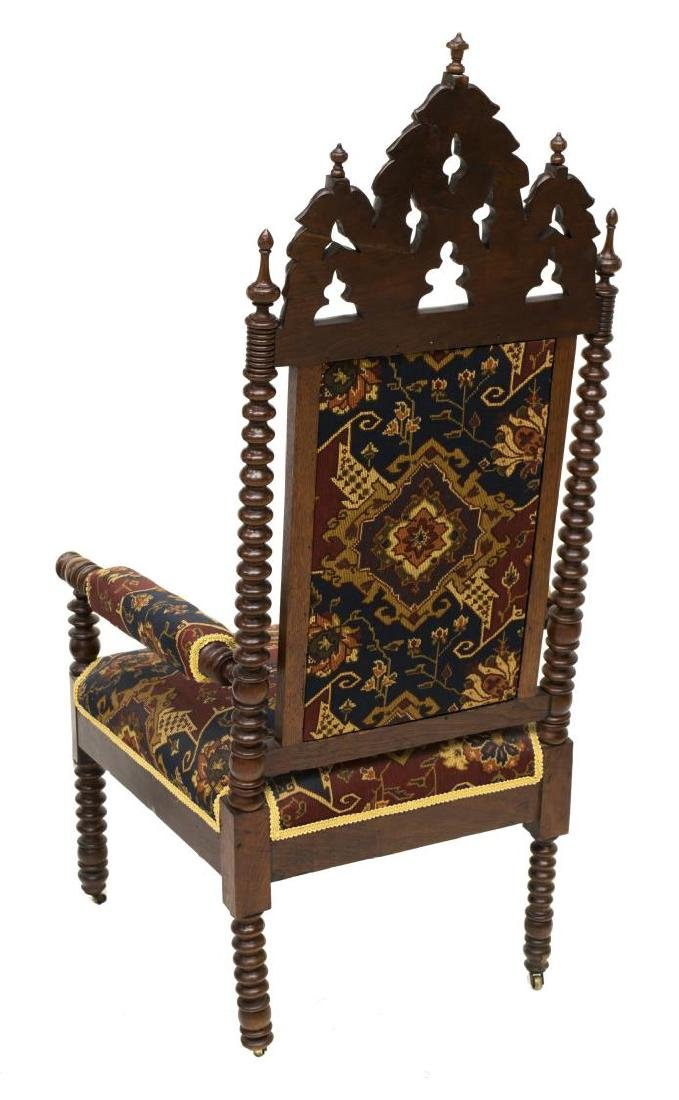 (2) GOTHIC STYLE CARVED CHAIRS - 5
