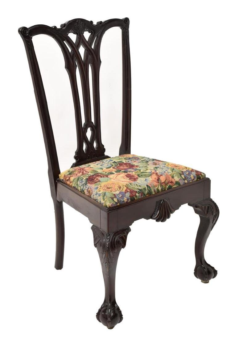 (6)CHIPPENDALE STYLE CARVED MAHOGANY DINING CHAIRS - 4
