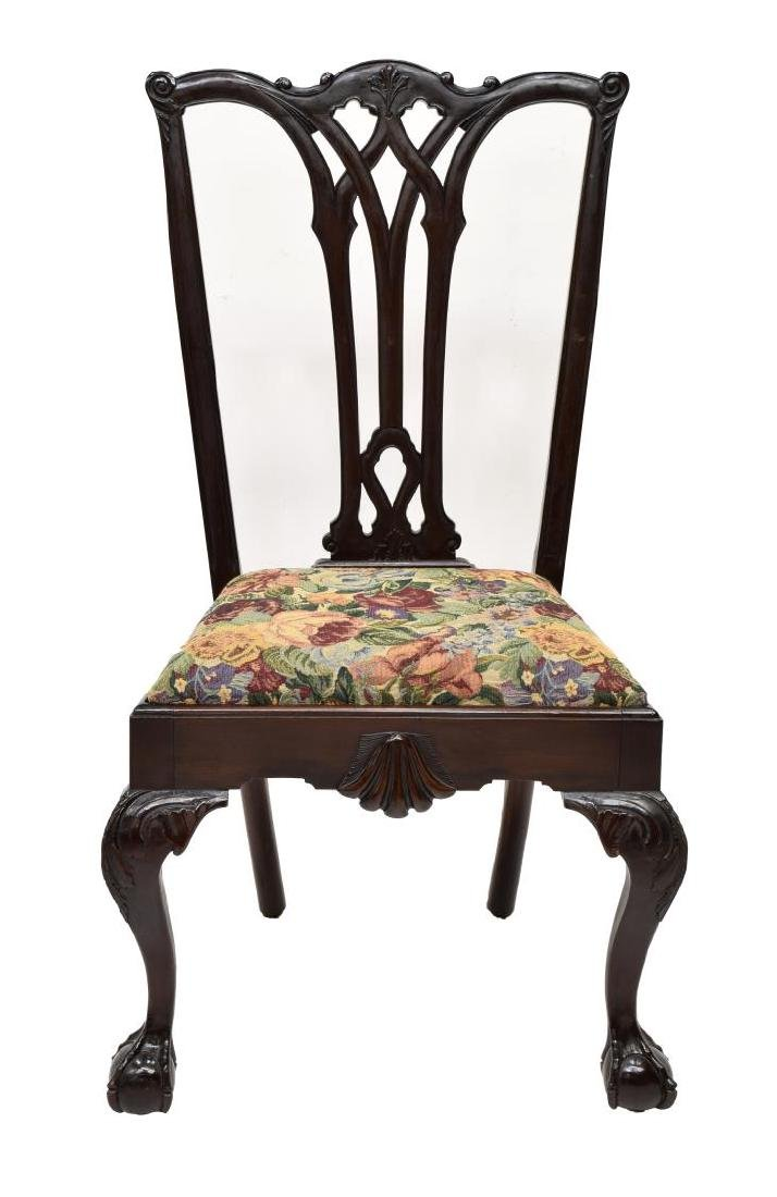 (6)CHIPPENDALE STYLE CARVED MAHOGANY DINING CHAIRS - 5