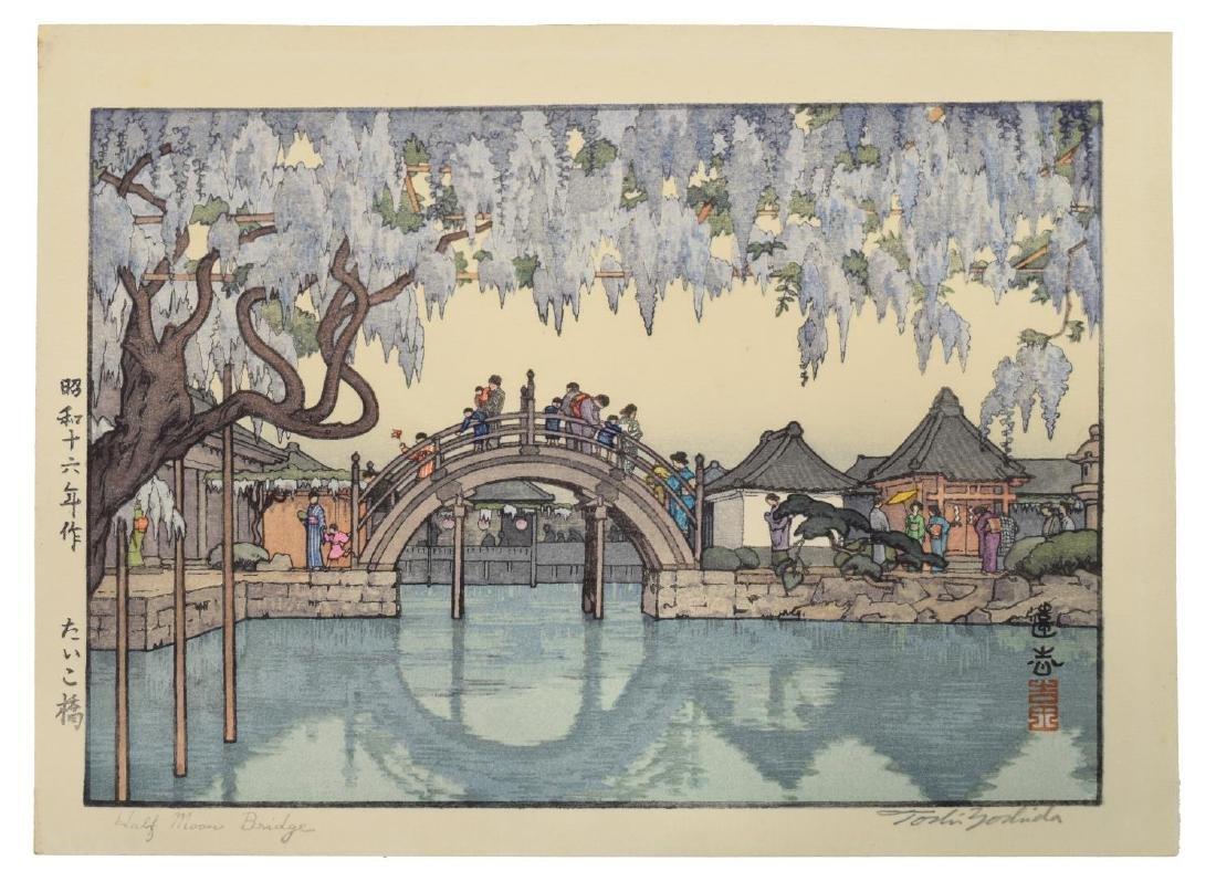 TOSHI YOSHIDA (JAPANESE 1911-95) HALF MOON BRIDGE