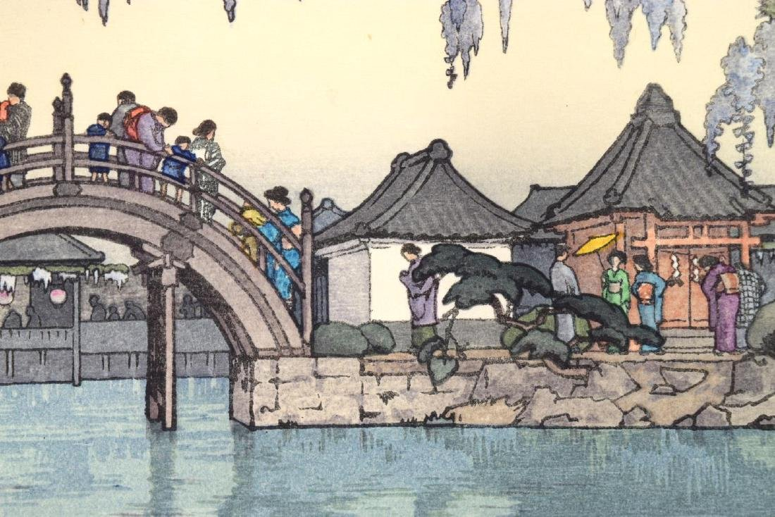 TOSHI YOSHIDA (JAPANESE 1911-95) HALF MOON BRIDGE - 2