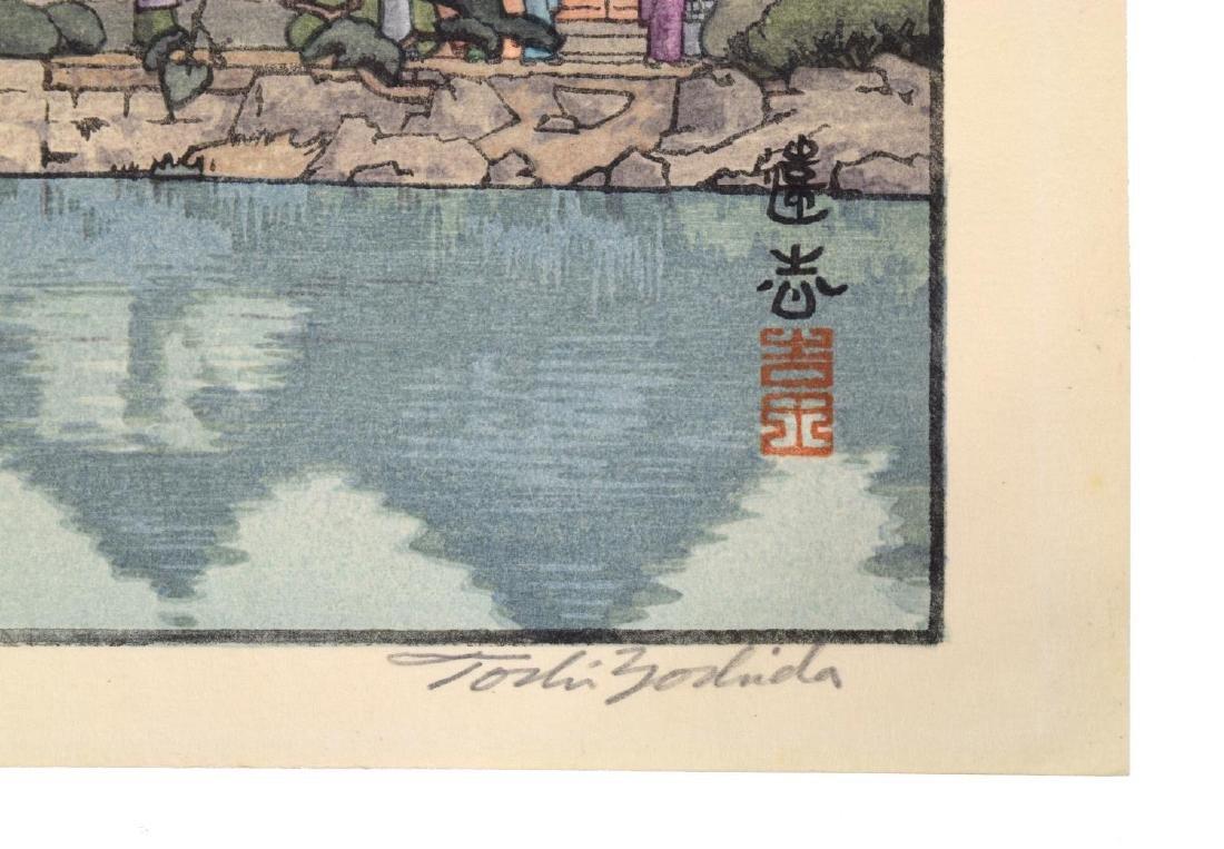 TOSHI YOSHIDA (JAPANESE 1911-95) HALF MOON BRIDGE - 5