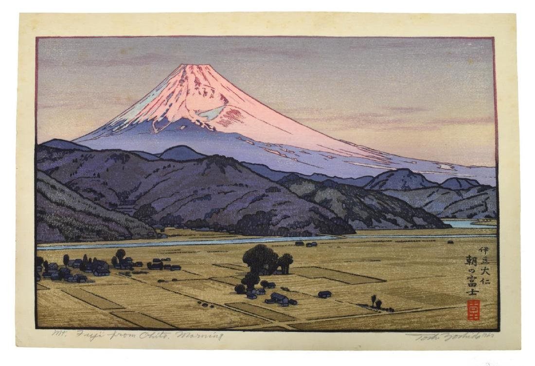 TOSHI YOSHIDA (JAPANESE 1911-1995) MT FUJI OHITO