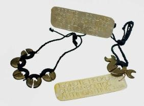 (2) IGOROT PHILIPPINES LINGLING-O BRASS NECKLACE