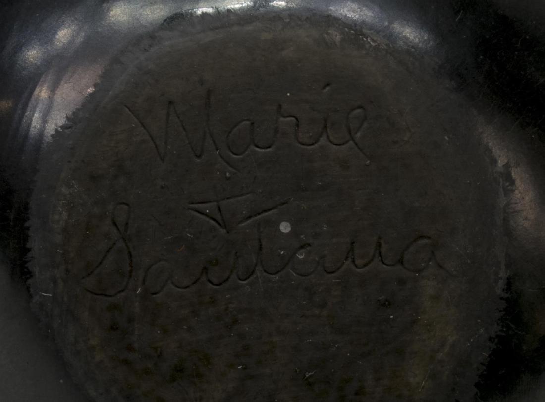 "MARIE & SANTANA MARTINEZ BLACK ON BLACK BOWL 3""H - 5"