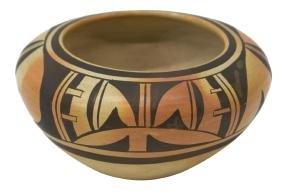 "FANNIE NAMPEYO HOPI bowl, 3.25"" x 6"""