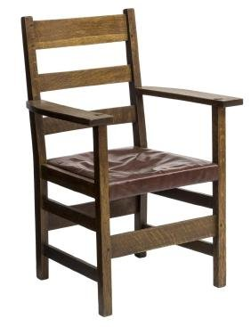 STICKLEY BROTHERS ARTS & CRAFTS OPEN ARMCHAIR