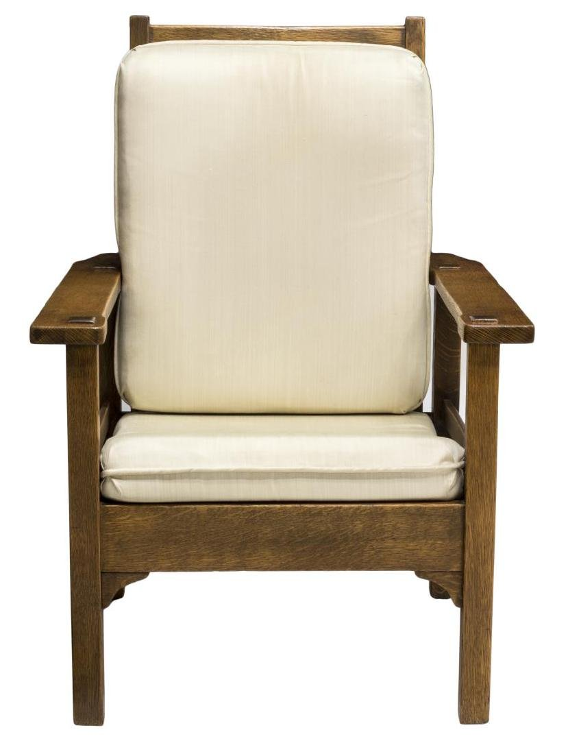 ARTS & CRAFTS STYLE OAK MORRIS CHAIR - 2