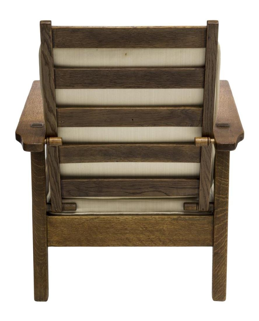 ARTS & CRAFTS STYLE OAK MORRIS CHAIR - 3