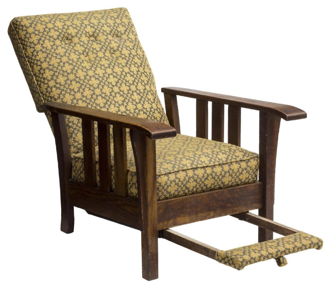 ARTS & CRAFTS ROYAL EASY CHAIR PULL OUT FOOTREST - 2
