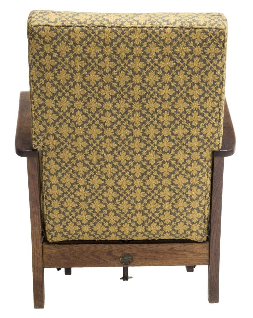 ARTS & CRAFTS ROYAL EASY CHAIR PULL OUT FOOTREST - 4