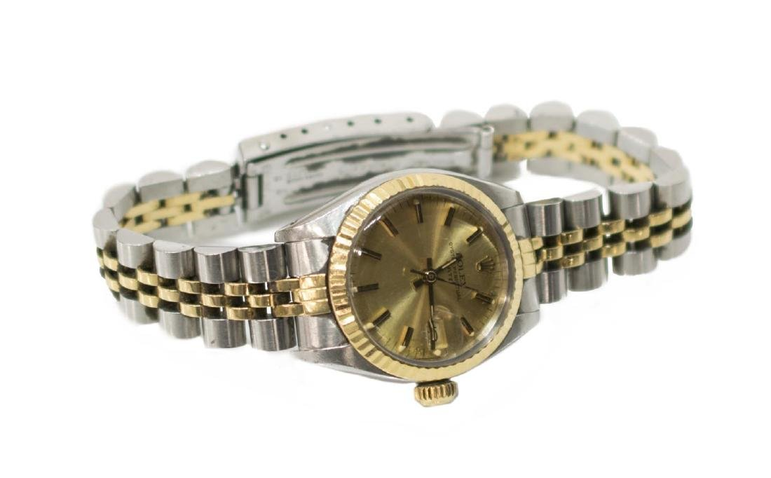 LADIES ROLEX OYSTER PERPETUAL DATE JUBILIEE WATCH - 2